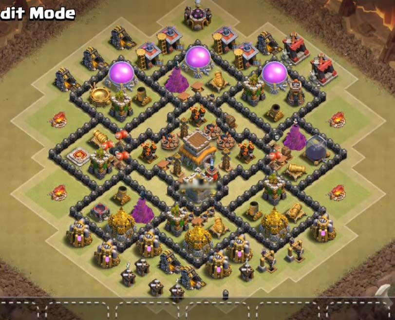 Base Coc Th 8 Anti Bintang 4