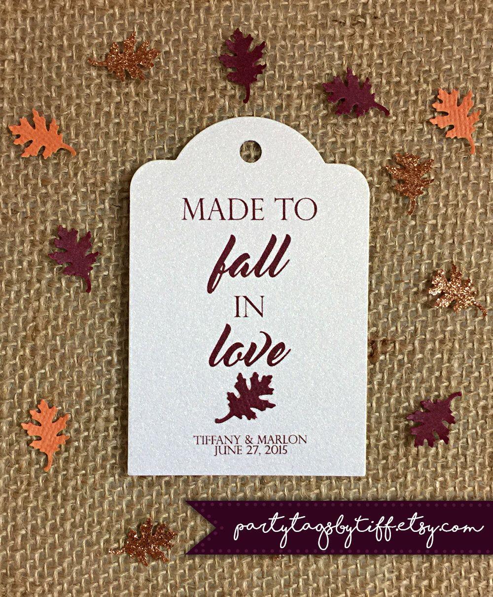 Fall Favor Tag|Autumn Gift Tags|Fall Leaves Favor Tag| Fall Bridal ...
