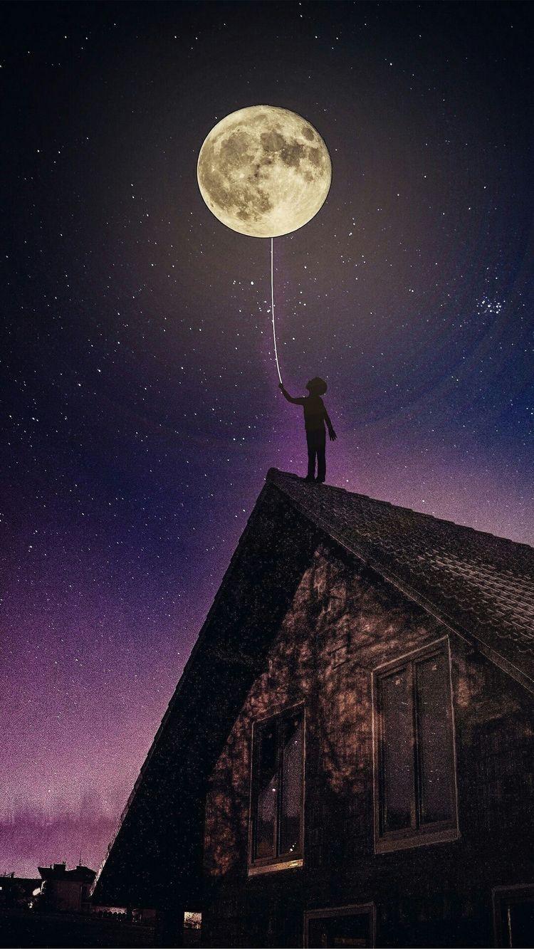 Pin Von Mika Auf Universum Mondfotografie Fantasielandschaft Bunte Hintergrunde