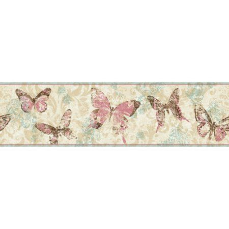 Better Homes and Gardens Butterflies Border, Multicolor