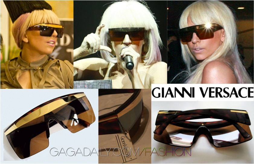 Eyewear Celebrity Gaga Lady Eyewear Versace Sunglasses 0nPIwqYT