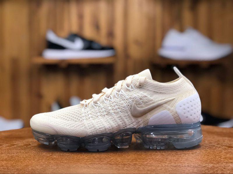 buy popular 826e2 659e6 2018 Nike Air Vapormax Flyknit 2.0 Girls Shoe Beige 942843-201 ...