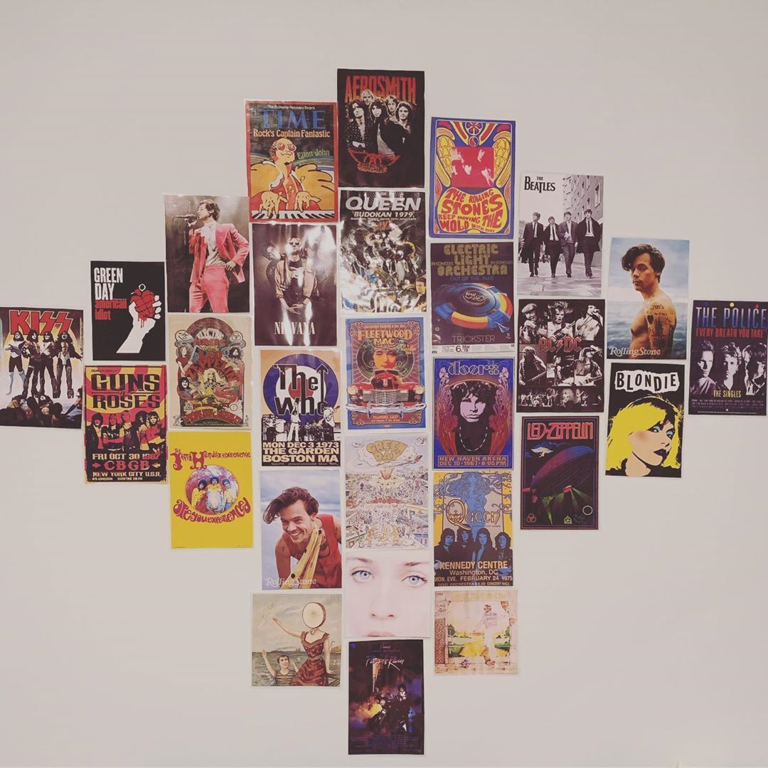 E A On Instagram Lol I Haven T Posted In Forever But I M Filling My Wall With Band Posters Album Cover Retro Room Wall Decor Bedroom Harry Styles Poster