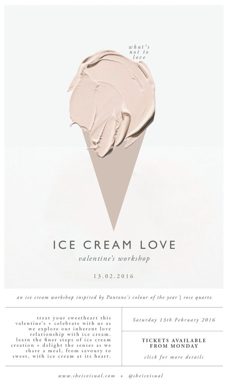 ICE CREAM LOVE WORKSHOP Digital Poster   design by SHE IS VISUAL
