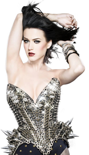 Katy Perry wearing The Blonds corset-photo by Mike Ruiz