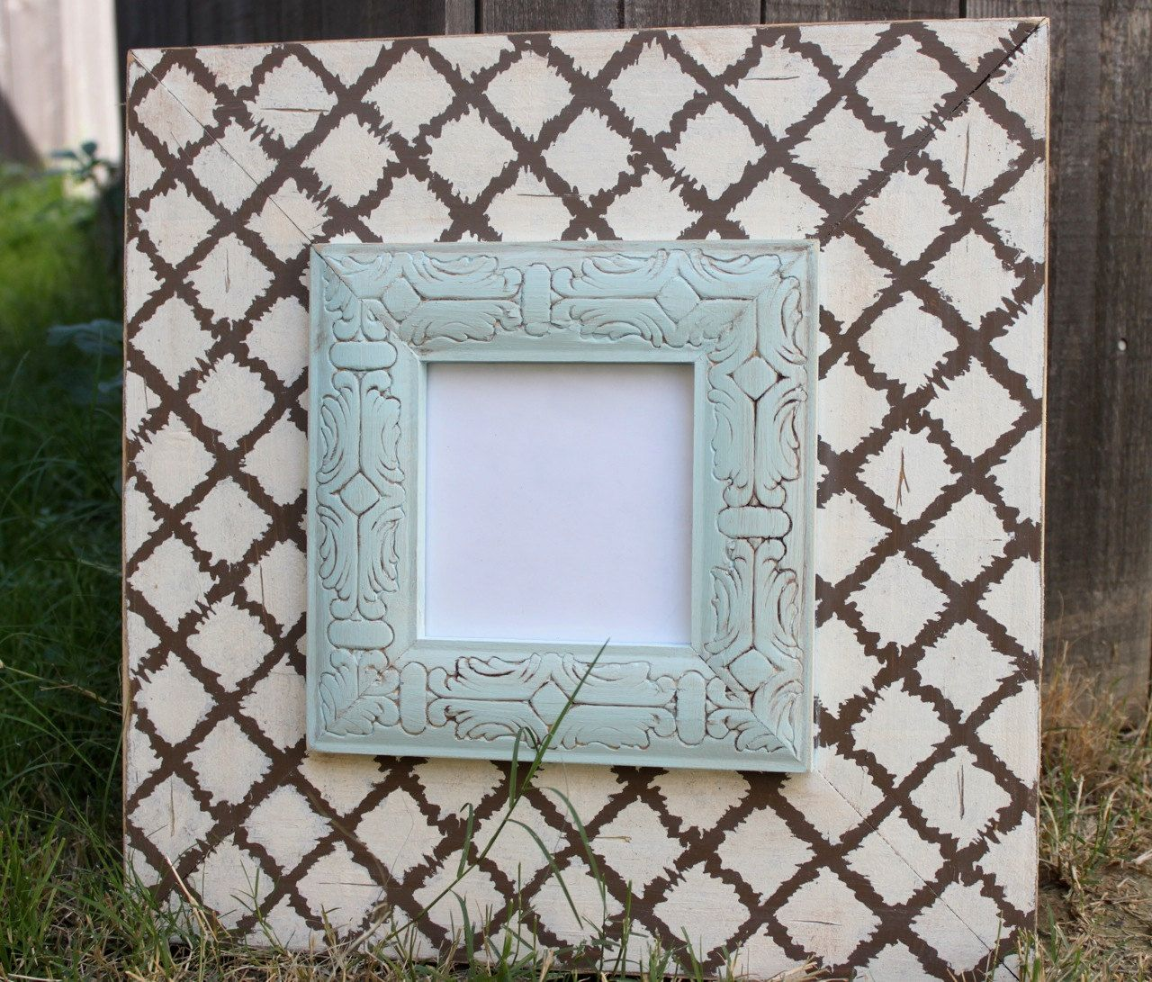 5x5 Wood Distressed Handmade Picture Frame by deltagirlframes | Home ...