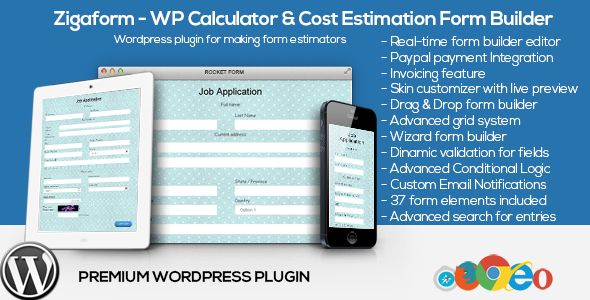 Zigaform  Wordpress Calculator  Cost Estimation Form Builder Is