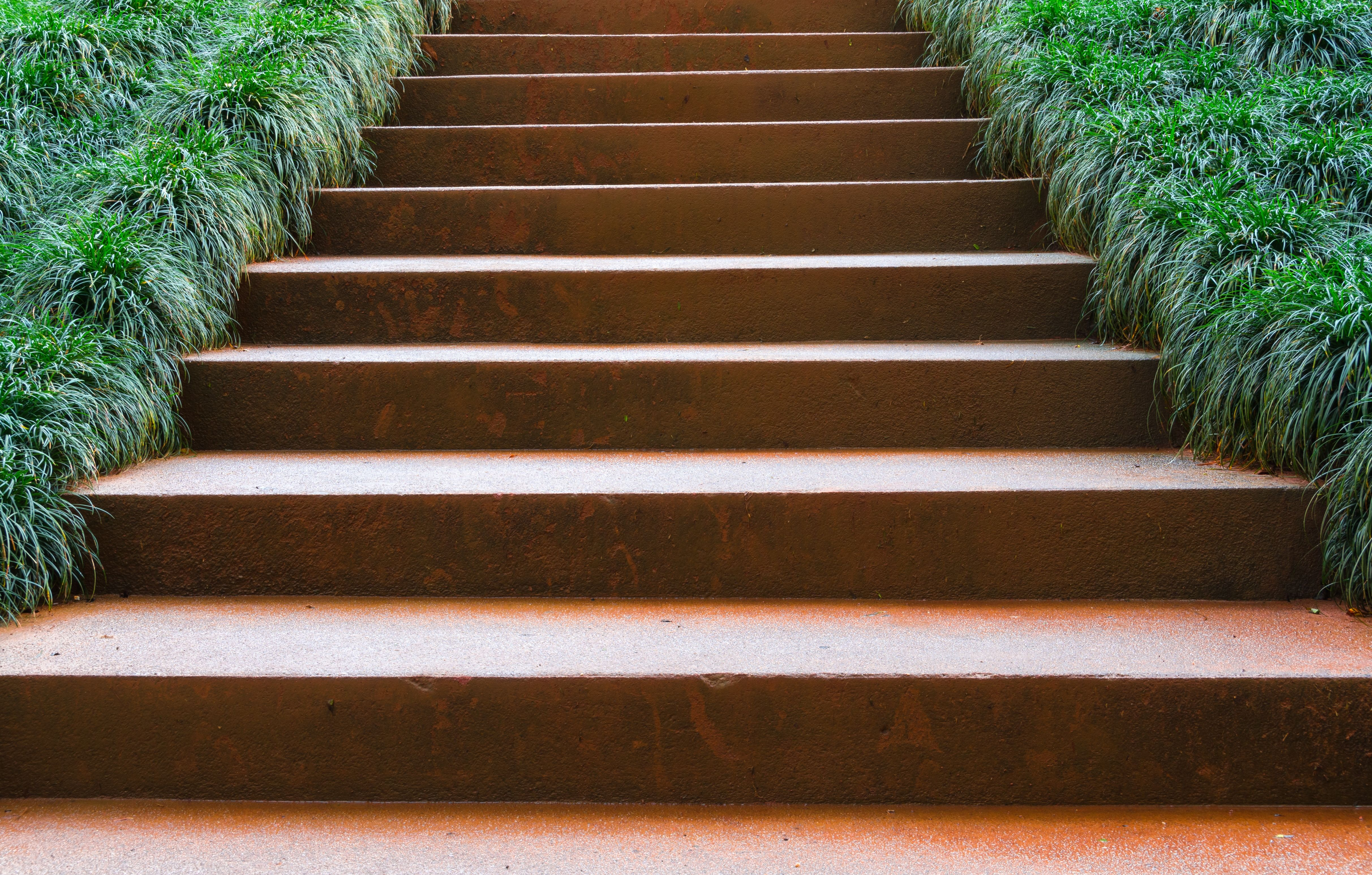 Riverhill Garden Supplies Offer Ready Made Garden Staircases In Corten  Steel For Height Differences In Your Garden. The Width Of The Stairs May  Range From ...