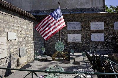 Tombe de La Fayette Cimetière de Picpus ,Rue de Picpus  12ème arrondissement Quartier :Nation
