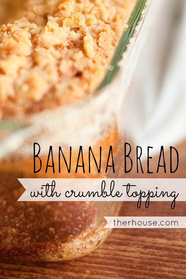 Banana Bread Therhouse Com Crumble Topping Sour Cream Banana Bread Banana Cake Recipe