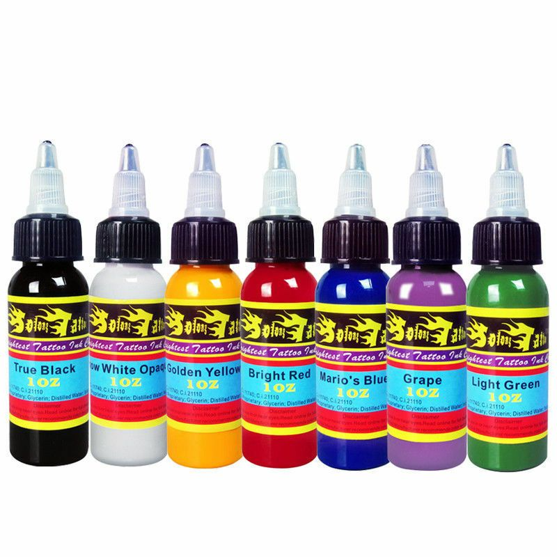 Ebay Sponsored Professional Tattoo Ink 7 Colors Set 1oz 30ml Bottle Pigment Kit Ti301 30 7 With Images Tattoo Ink Sets