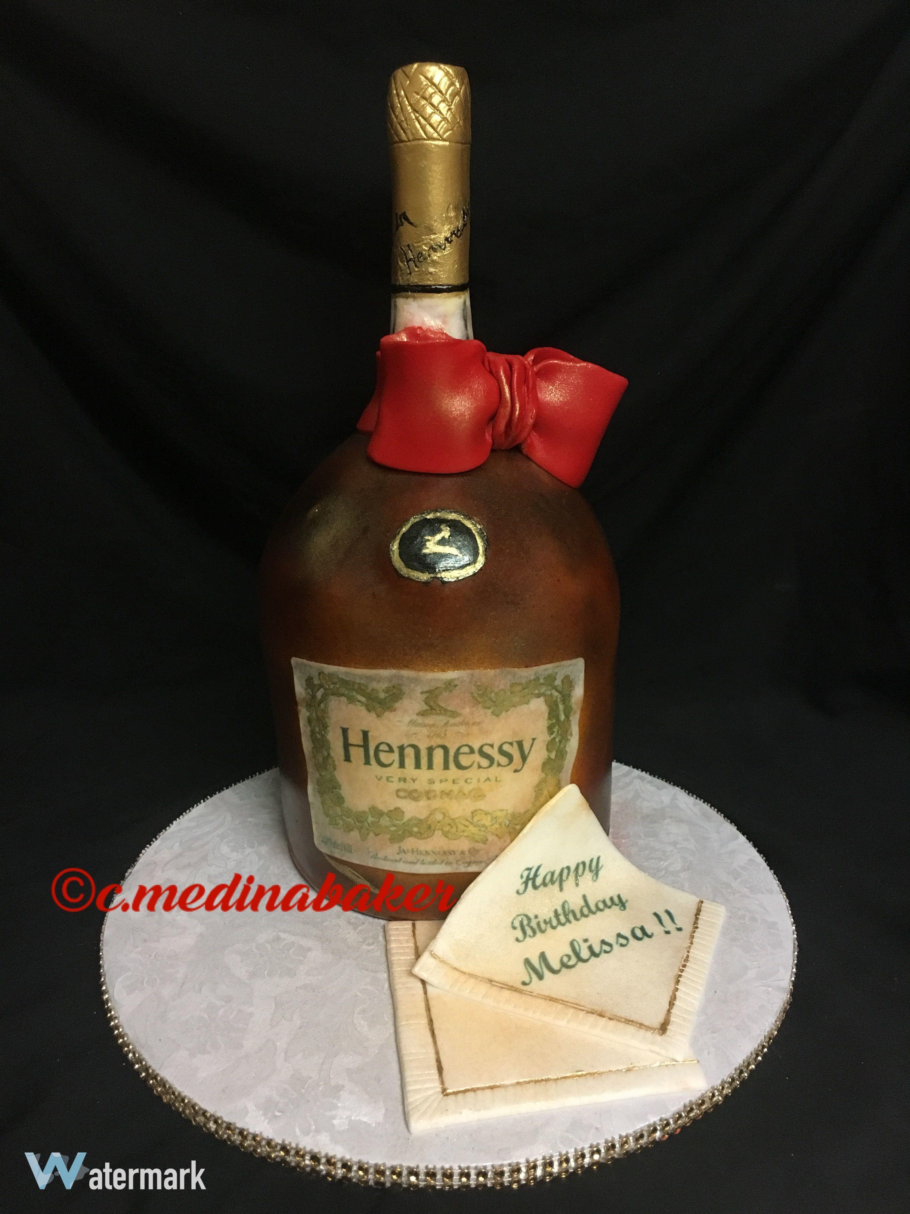 Hennessy bottle cake bottle cake hennessy bottle happy