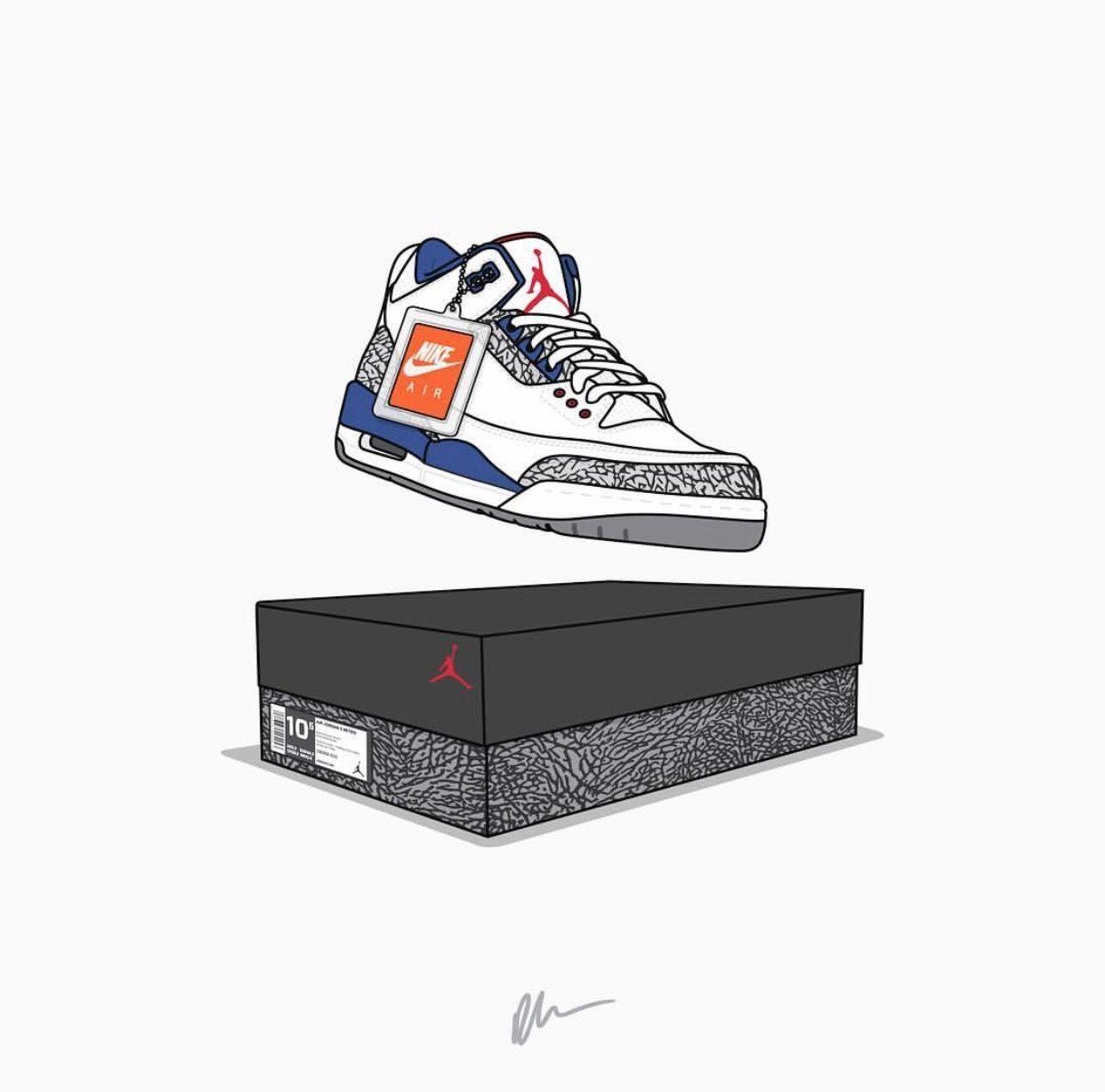 52eac5b1178 Air Jordan III True Blue | Shoes in 2019 | Shoes wallpaper, Sneakers ...