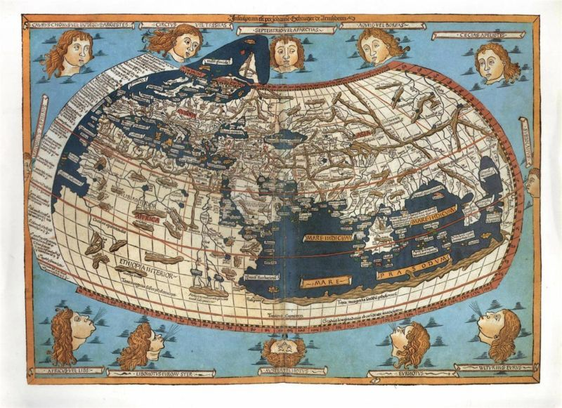 The World In 1482 As Drawn By Renowned Cartographer Claudius Ptolemy