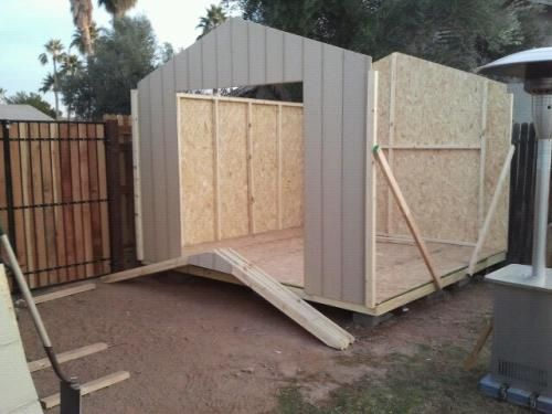 Handy Home Products Princeton 10 Ft X 10 Ft Wood Storage Shed 18250 1 At The Home Depot Mobile Shed Wood Storage Sheds Storage Shed
