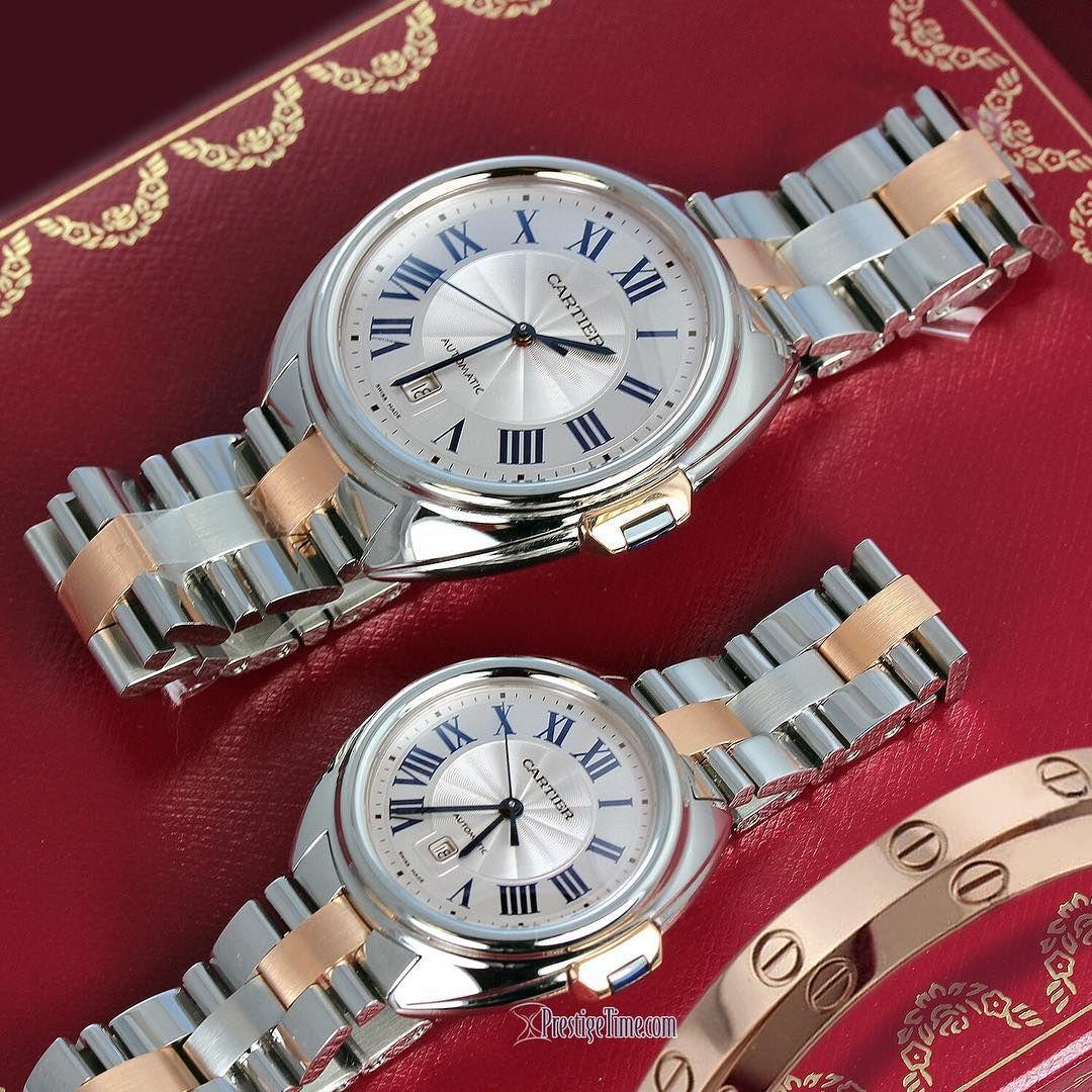 Cartier Cle De Cartier Watch In Twotone Stainless Steel Rose