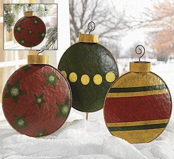 The Whoot Large Christmas Ornaments Outdoor Christmas Decorations Christmas Yard Art