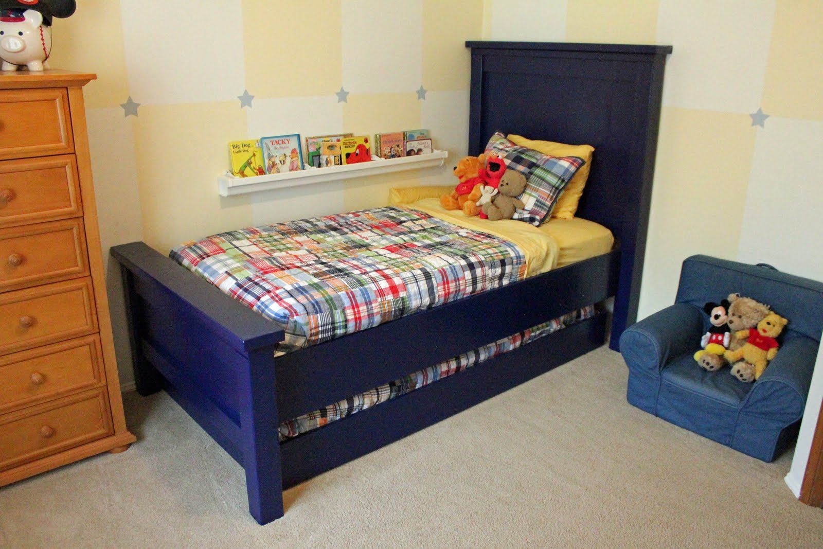 Best Farmhouse Bed Twin Size Twin Trundle Bed Diy Bed Frame Bed Plans 640 x 480
