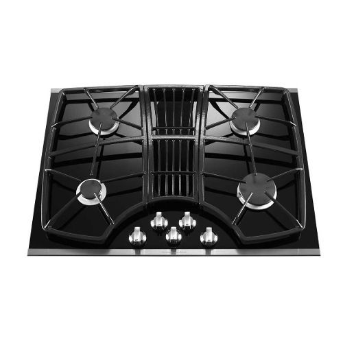 Kitchenaid 30 Inch Downdraft Gas Cooktop With Images Gas Cooktop Stainless Steel Cooktop Downdraft Cooktop