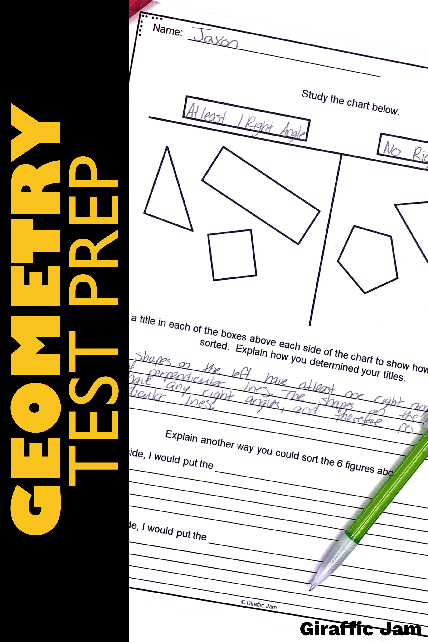 4th Grade Geometry Tasks