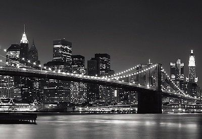 household-items: Wall Mural New York City Skyline Vinyl Poster Decor ...