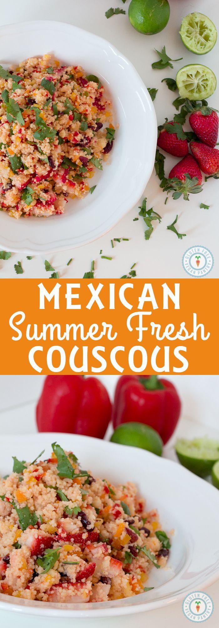 Mexican Summer Fresh Couscous - gluten free and vegan!