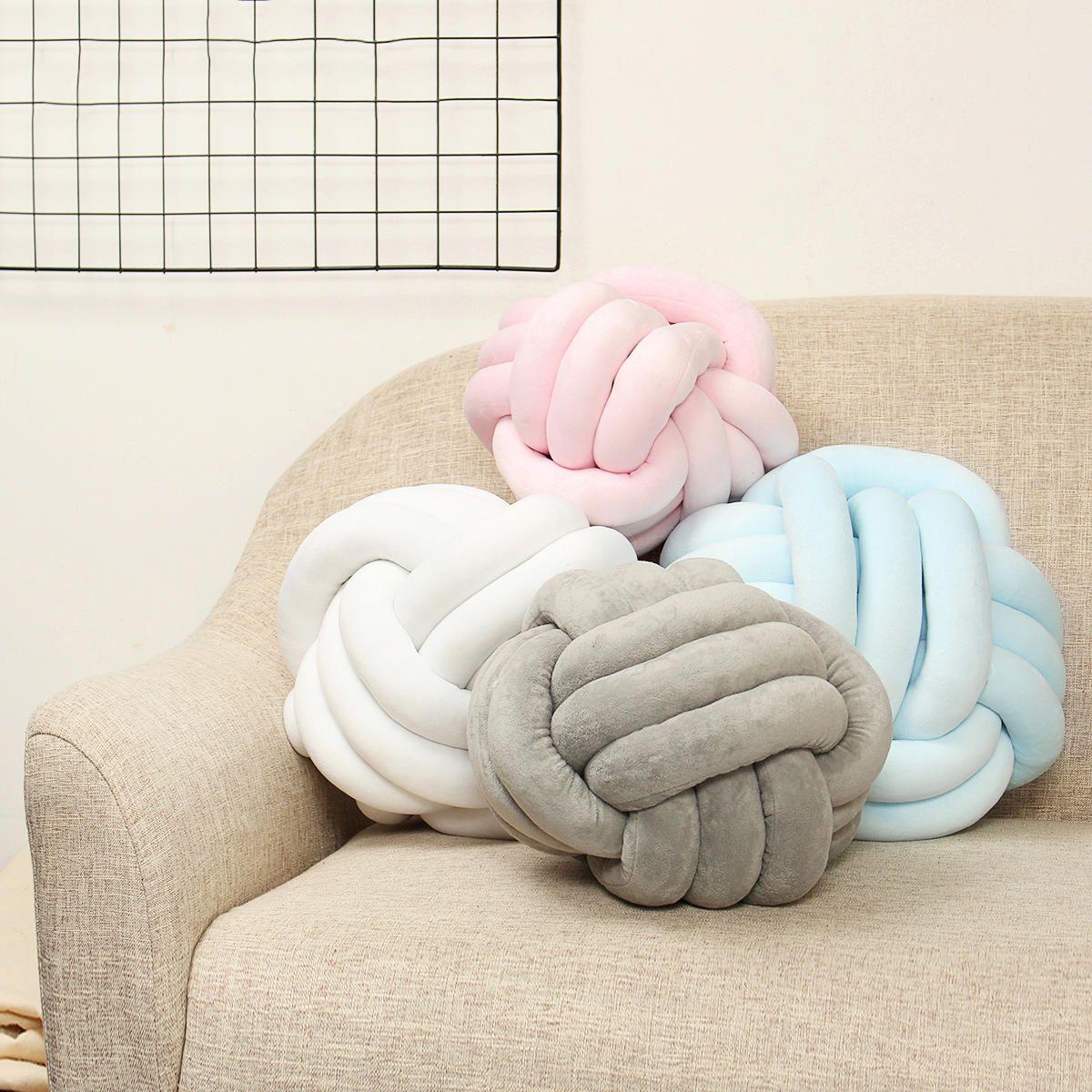 Plush Knot Cushion Knotted Ball Pillow Kid Soft Pillow Car Home Sofa Decor Gift