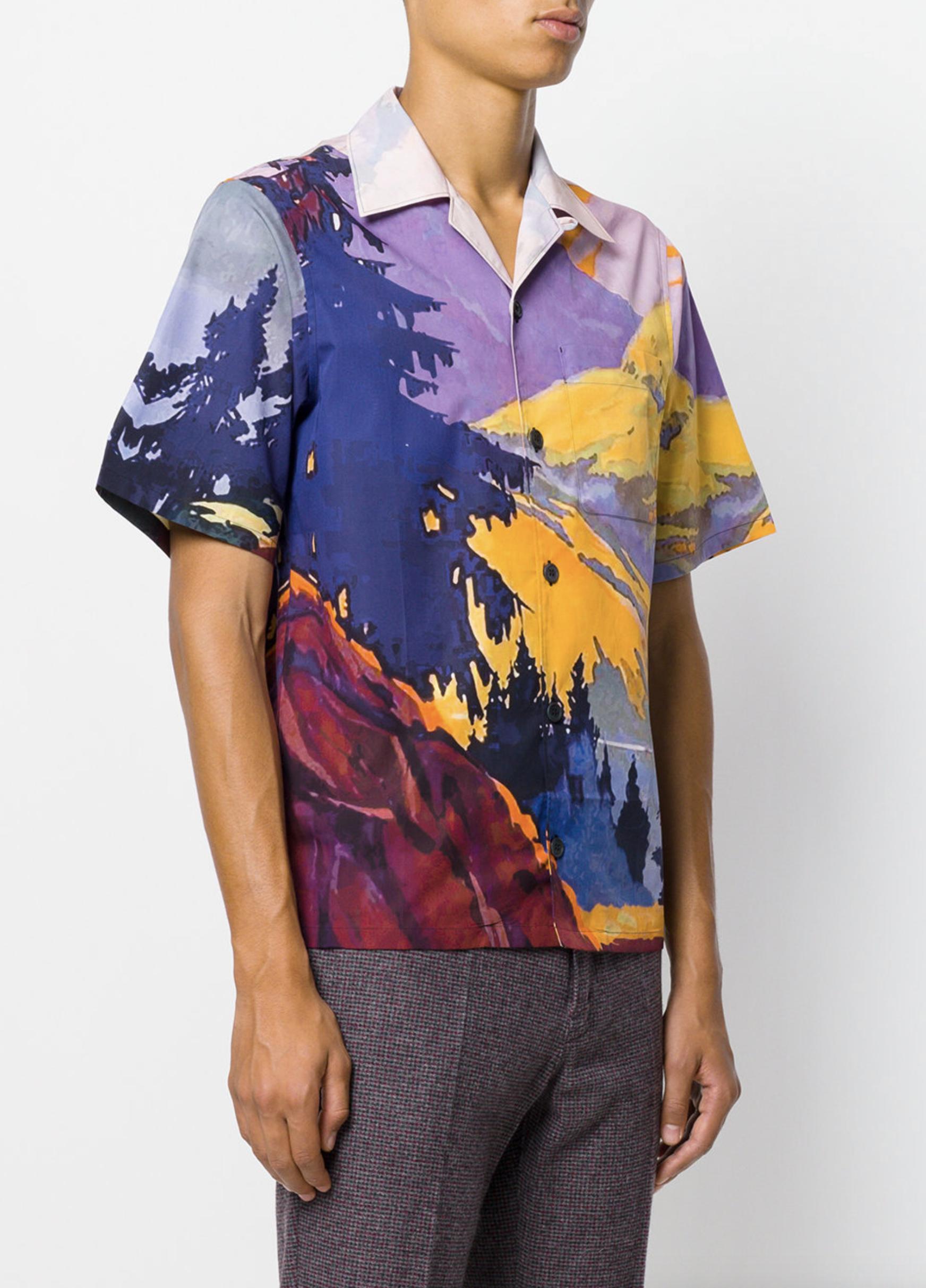 164bc053418d PRADA Landscape print shirt from Farfetch (men