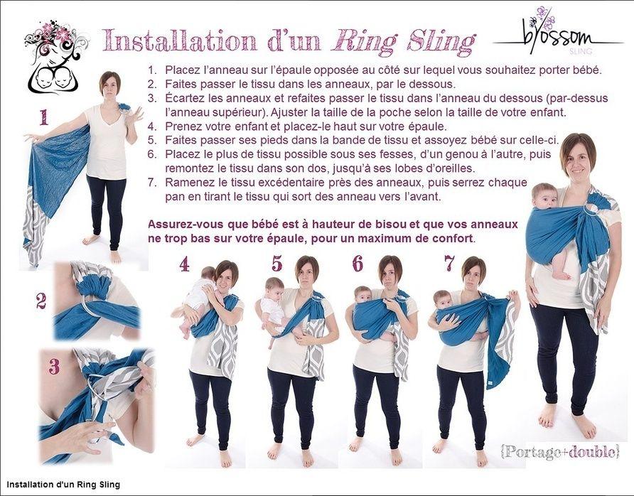 Instructions d installation de votre ring sling Blossom   Bébé ... 34de45accd3