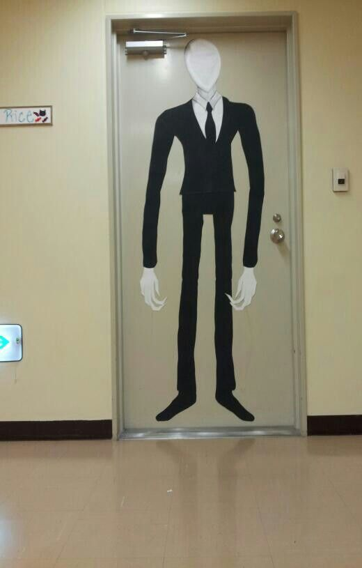 Slender Man Halloween door design.   Halloween   Pinterest ...