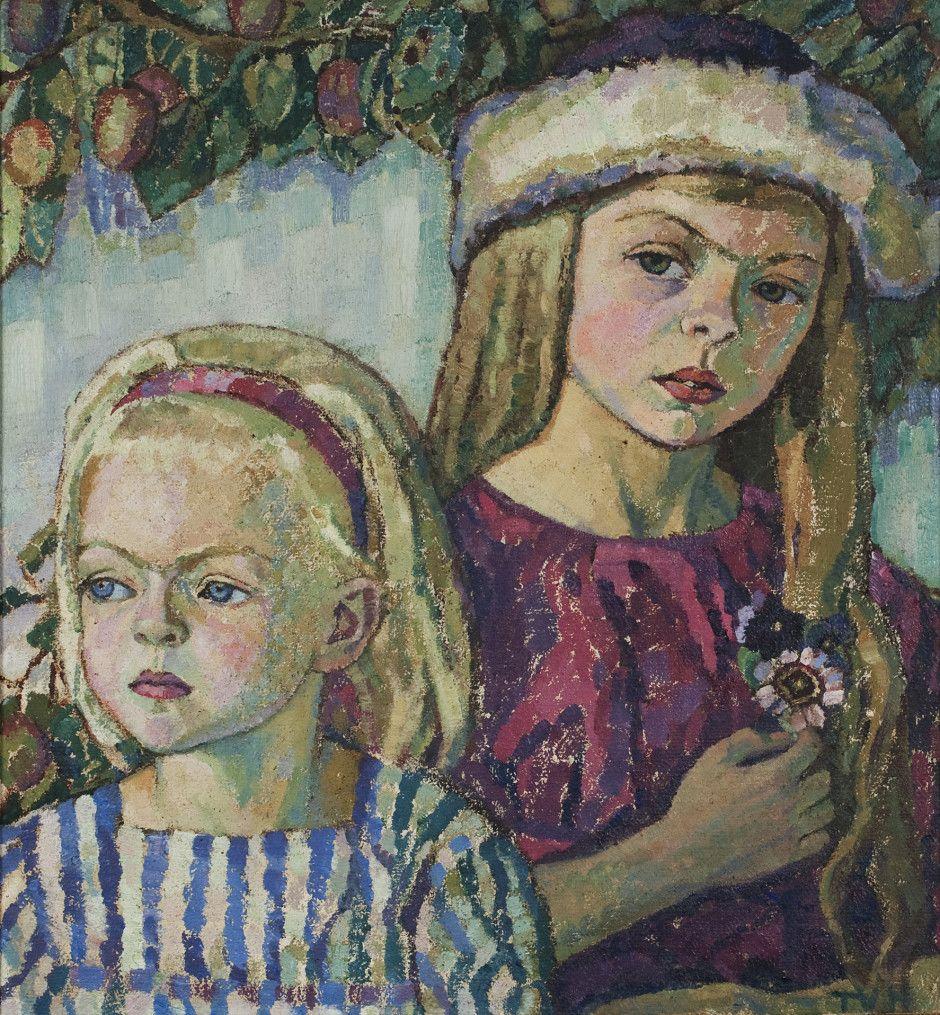 Utställning Med en annan blick - Modernismen Tora Vega Holmström (1880-1967) Systrar, 1916 Olja på duk