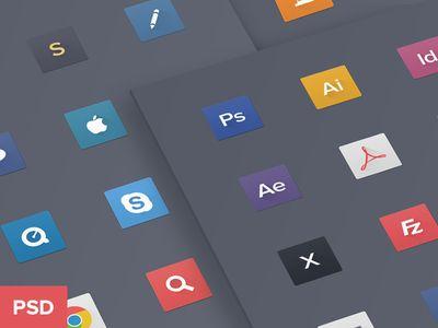 Free Psd Flat Icons - 9