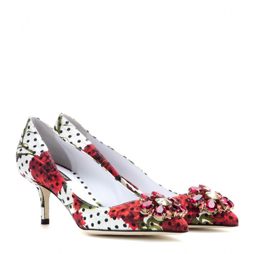 1352d22882b mytheresa.com - Belucci embellished brocade pumps - Mid-heel - Pumps ...
