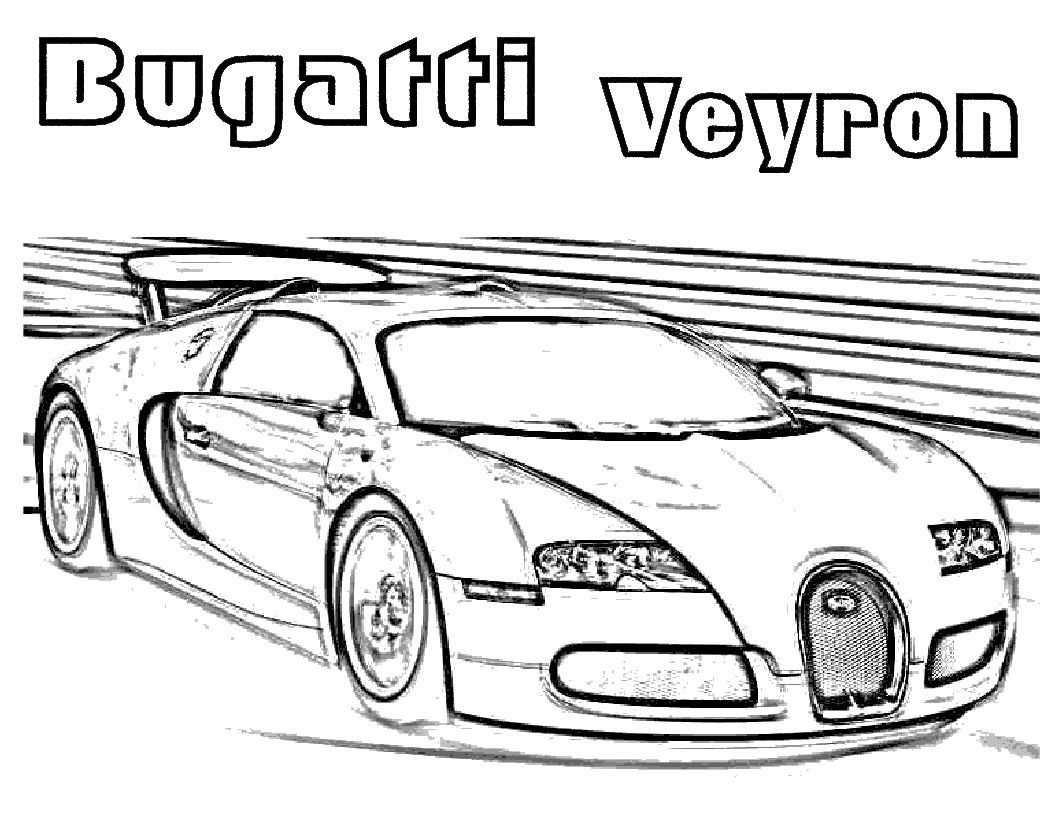 Bugatti Veyron Cars Coloring Pages Pinterest Kids