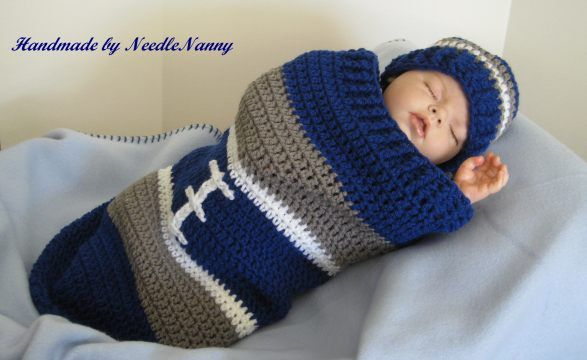 Dallas Cowboy Baby Cocoon Football Cocoon Hat Crochet Cocoon