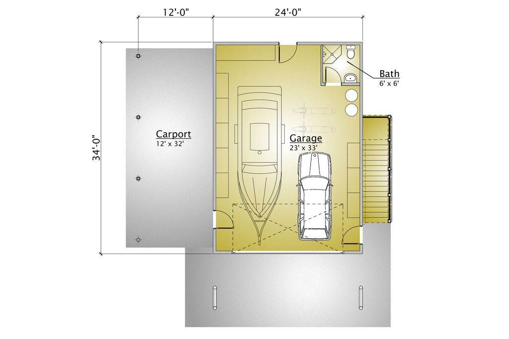 Cabin Style House Plan - 1 Beds 200 Baths 863 Sq/Ft Plan #910-3