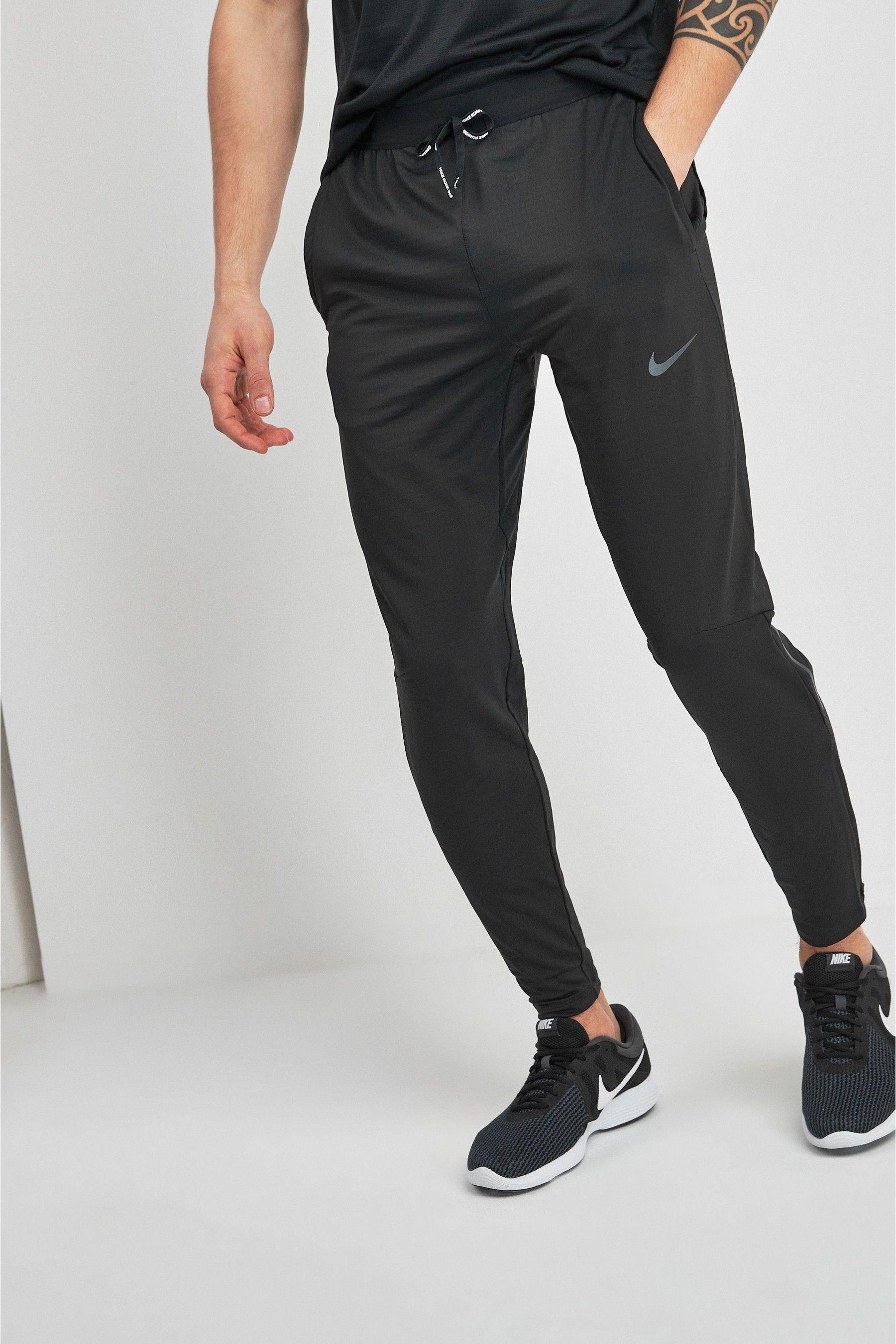 Mens Nike Black Phenom Running Joggers - Black | Black nikes ...
