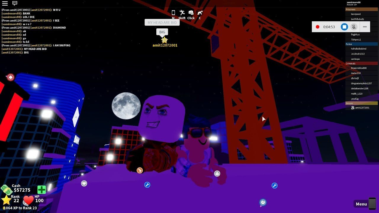 Mad City The Roblox Gameplay Roblox Gameplay Roblox City Games