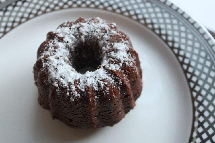 Mini Devils Bundt Cakes
