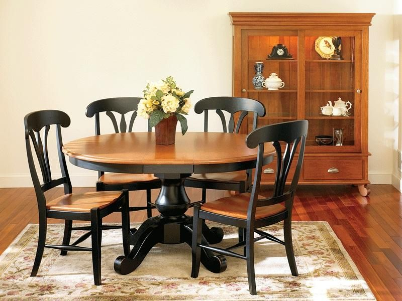 Superb Amish Sonoma Single Pedestal Dining Room Table With Solid Top