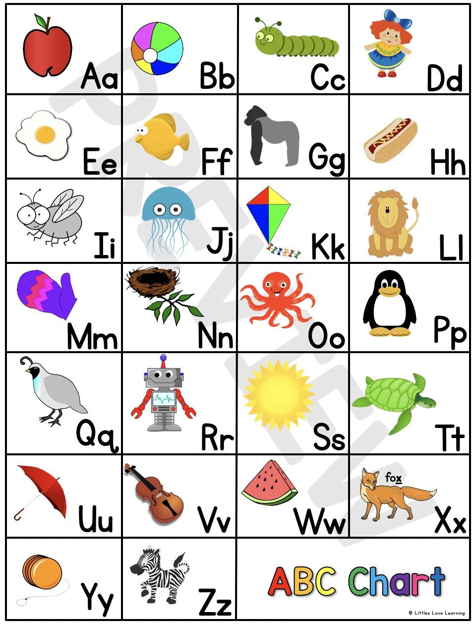 Free Preschool Kindergarten Abc Flashcards Printable Chart Abc Flashcards Kindergarten Abc Preschool Letters Printables