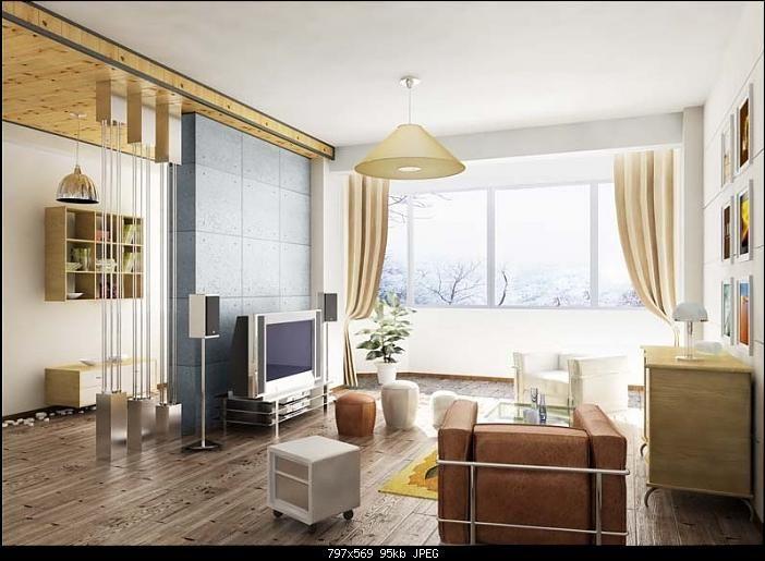 Wonderful Simple Modern Living Room 3Ds Max Model Download Free