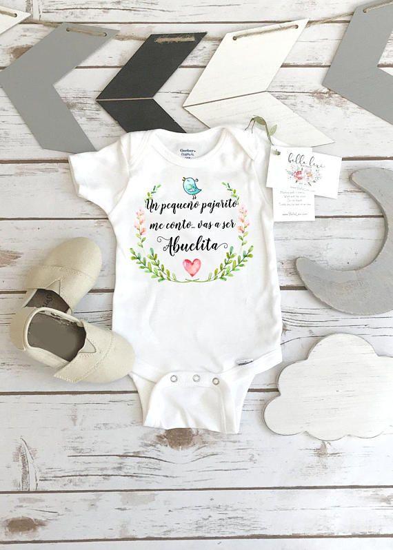 Spanish pregnancy reveal abuelita baby gift to grandma - Bebe en camino ...
