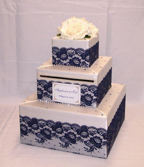 Elegant Wedding Gift: Elegant Custom Made Wedding Card Box-Lace Design. I Would