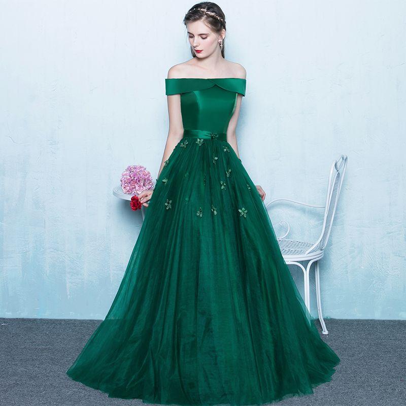 green long elegant dresses