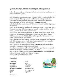 Spanish Subjunctive Reading - Lectura en Subjuntivo - El