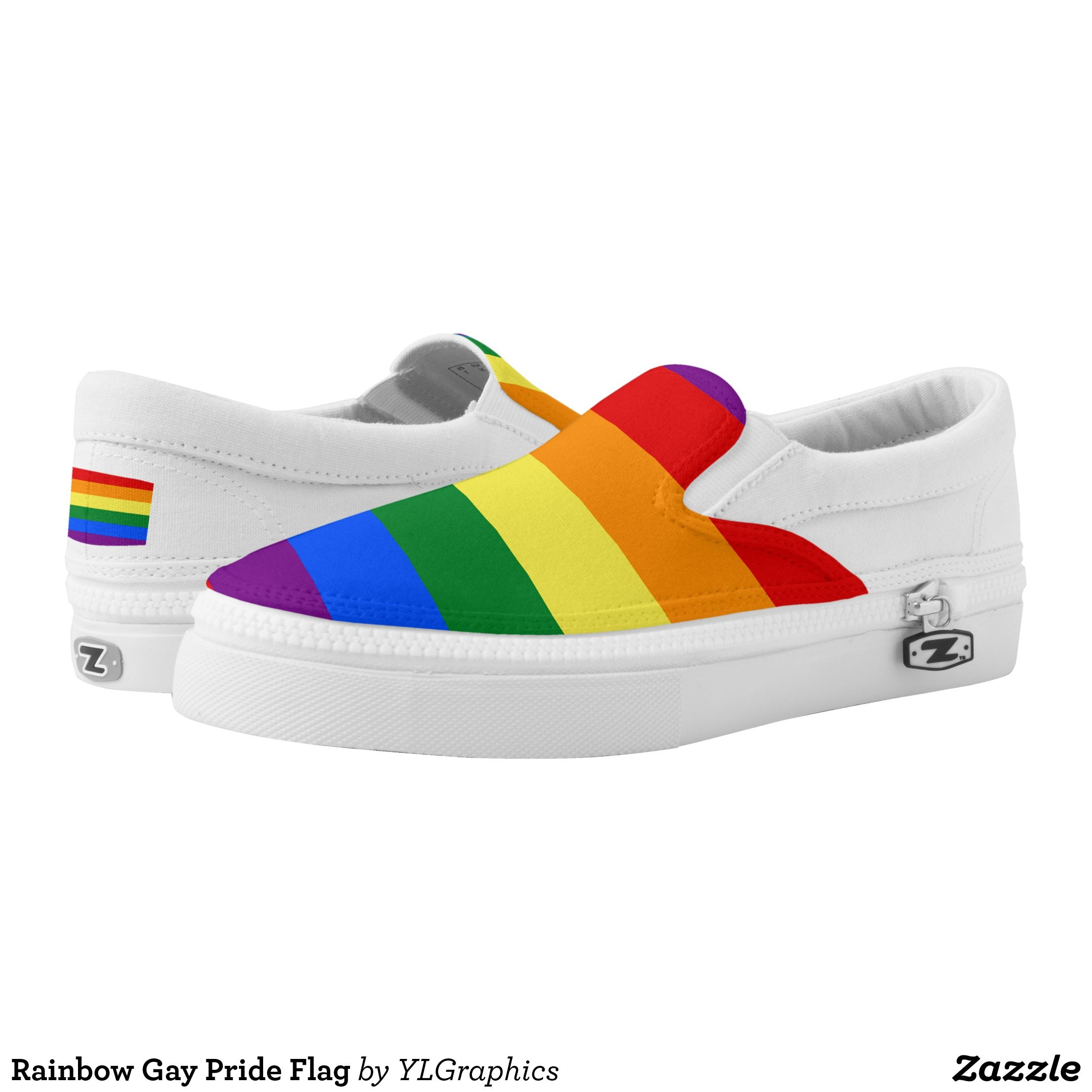 63096c137fa4 Rainbow Gay Pride Flag Slip-On Sneakers - Canvas-Top Rubber-Sole Athletic  Shoes By Talented Fashion And Graphic Designers - #shoes #sneakers  #footwear ...