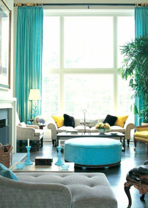 Pin By Bintang Putra On Interior Design Aqua Living Room Turquoise Room Colourful Living Room Aqua living room decorating ideas