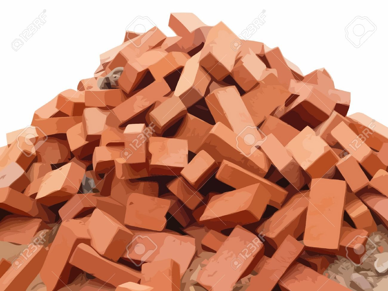 Pile Of Red Bricks 69376