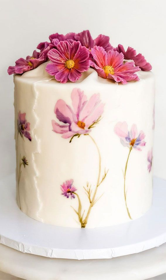 Beautiful Cake Designs That Will Make Your Celebration To The Next Level Cosmos Beautiful Cake Designs Pretty Birthday Cakes Painted Cakes